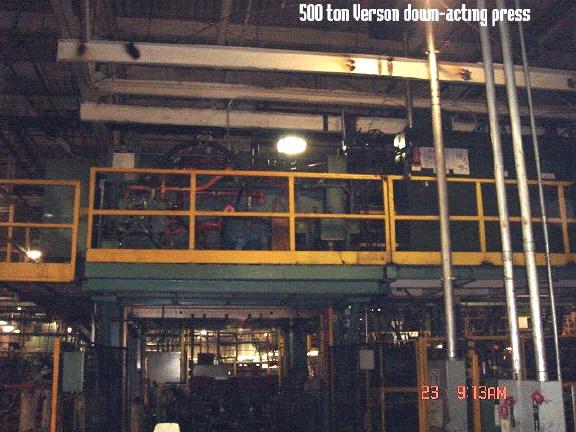 500 Ton Verson Press Mauldin Machine